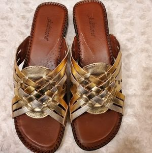 Metallic Sandals  Sz11